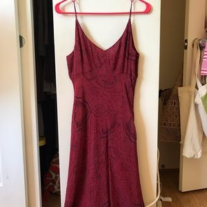 Beautiful Ann Taylor red paisley dress sz 4